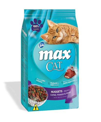 Maxcat nuggets carne frango e peixe