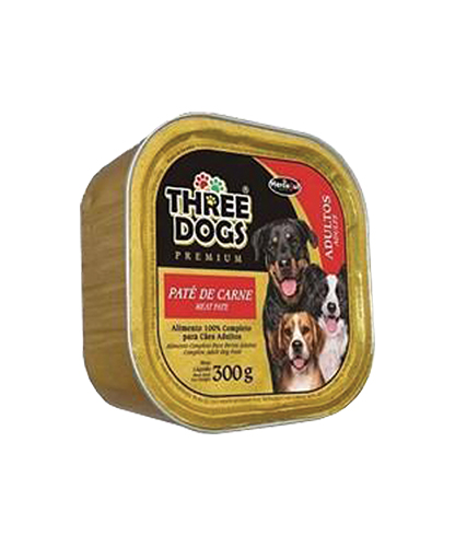 Patê Three Dogs - Carne