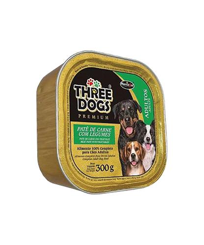Patê Three Dogs - Carne Com Legumes
